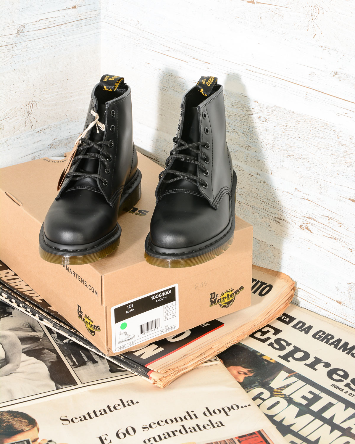 Omero Black Dr Smooth Martens Boots Abbigliamento 101 6 Eye Woman I1qw8EnavU