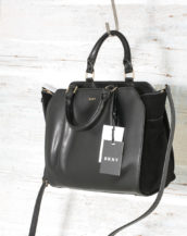 DKNY Handbags Fall 2017 Small Satchel Black R3140100 with suede