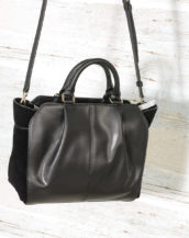 DKNY Handbags Fall 2017 Small Satchel Black R3140100 with suede (8)