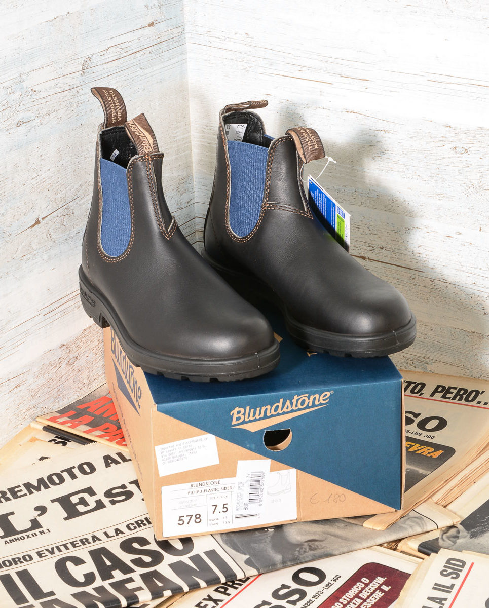 Stivale uomo Blundstone 578 Stout Brown Blue (1)