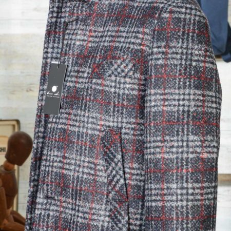 Cappotto uomo Due Soli in lana SHORT COAT SUGAR DS38 principe di galles