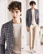 Circolo 1901 Man Check Easy Jacket