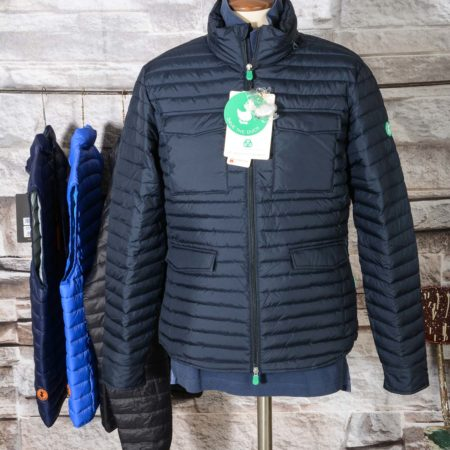 Giubbino uomo Field Jacket Save The Duck D3335M RECY6 GIUBBOTTO Blue Black