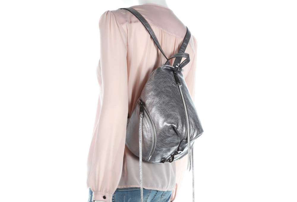 HS18GMTB25-ANTHRACITE-013-LEATHER-HANDBAG-MEDIUM-JULIAN-BACKPACK Zaino Rebecca Minkoff