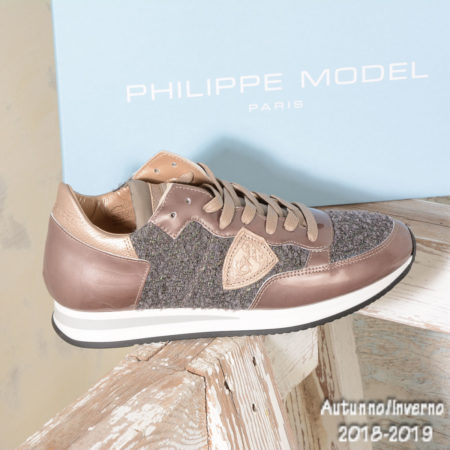 Sneakers donna Philippe Model TRLD QV12 TROPEZ BOUCLE VERNIES SABLE