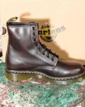 Smooth Red Vintage Dr Martens 1460 Woman Boots 8 eye