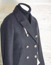 Miss Accademy Camplin Peacoat lungo donna blu in misto lana
