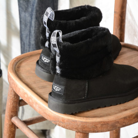 UGG W FLUFF MINI QUILTED 1098533 W BLACK