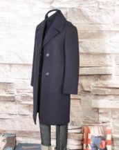 Cappotto Blu Navy in misto lana DKNY Donna Karan New York N365005A4B 414