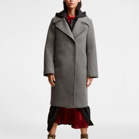 Cappotto in misto lana DKNY Donna Karan New York N365005A4B 070 FLINT