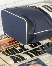 ZAINO-BORSA uomo HACKETT LONDON HM410047 5DJ Navy Blue - White