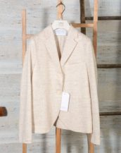 Blazer donna due bottoni in lino Jaspè HARRIS WHARF LONDON A3220PDD 101 Off White