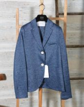 Blazer donna due bottoni in lino Jaspè HARRIS WHARF LONDON A3220PDD 355 Denim