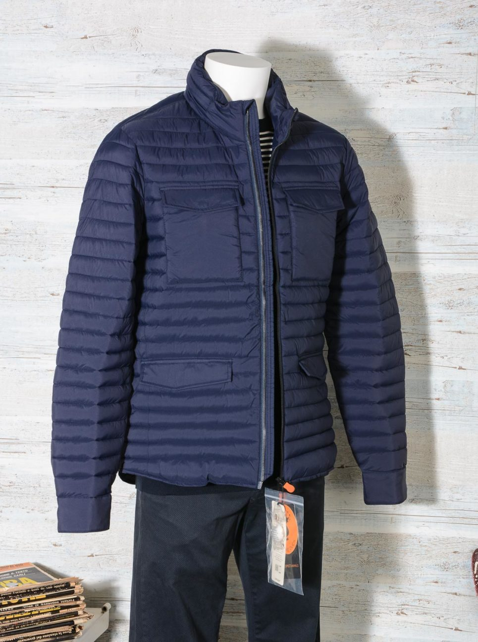 Field Jacket Uomo Save The Duck D3335M MITE8 GIUBBOTTO Navy Blue -1