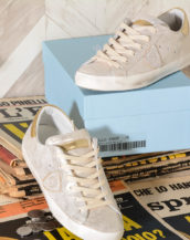 Sneakers donna Philippe Model Paris PE19 - CLLD XM05 - Suede Metal Oro