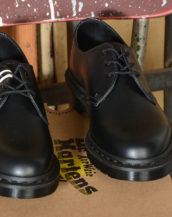 dr martens stringata bassa 1461 MONO BLACK SMOOTH 14345001