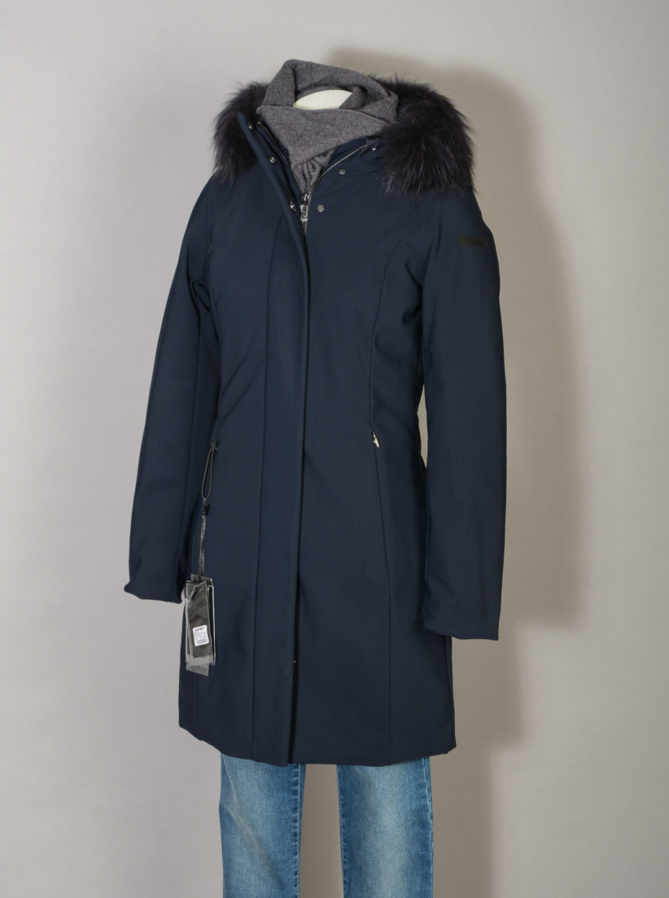 Winter Long Lady Fur T W19501FT Parka Donna RRD con Pelliccia colore 60 Blue Black jpg (6)