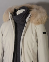 Winter Long Lady Fur T W19501FT Parka Donna RRD con Pelliccia colore 83 Ecru Sabbia