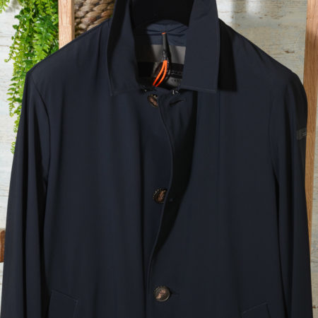 Trench uomo Spolverino RRD CITY COAT 20015 colore 60 Blue Black