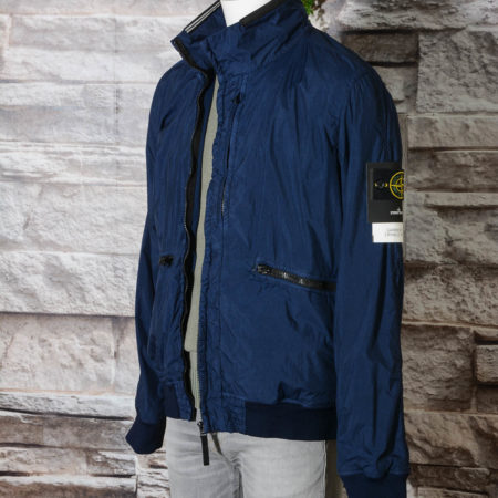 Giubbino STONE ISLAND 7015 40930 Garment Dyed Crinkle Reps Lightweight Jacket - V0028 Navy Blue