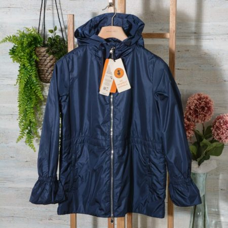 Giacca Giubbino donna Save The Duck con cappuccio D3869W MEGAX colore 00009 Navy Blue