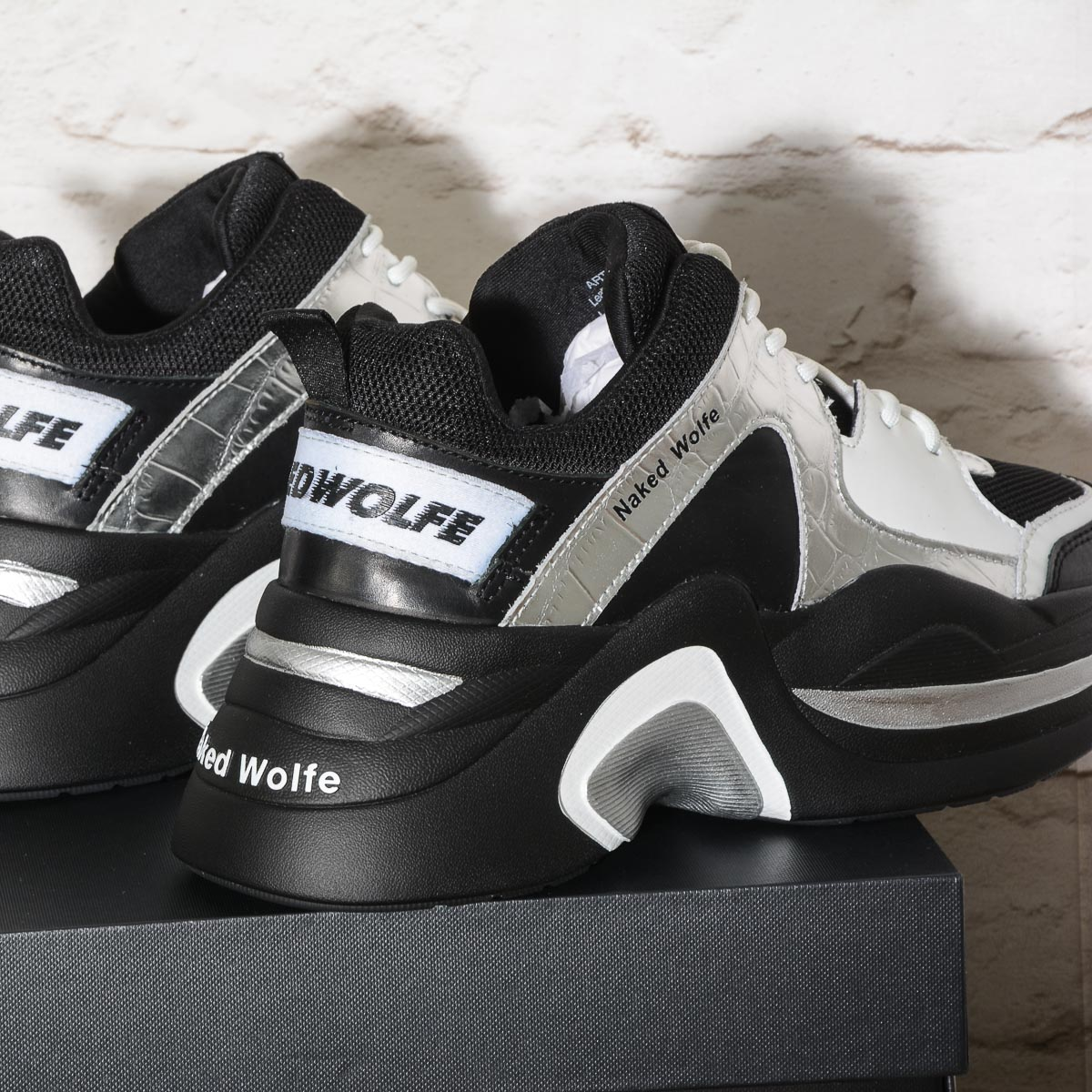 TRACK Double Black Combo NAKED WOLFE Sneakers Black-Black