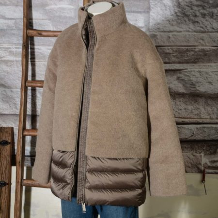 Giacca Piumino donna ADD con lana e mohair 2AWF96S JACKET WITH DOWNcolore beige cammello